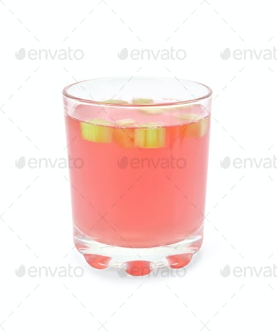 Compote from rhubarb in glassful