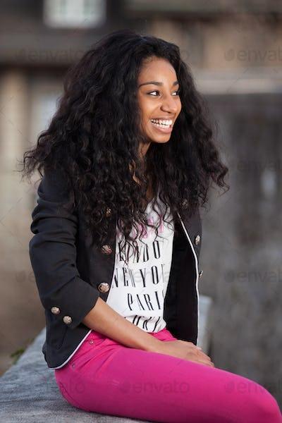 Beautiful african american teenage girl