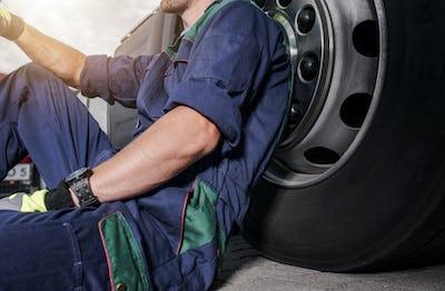 Replacing Semi Truck Tires Theme