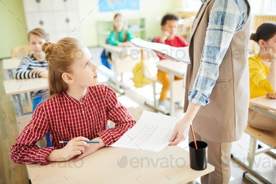 Consulting with teacher