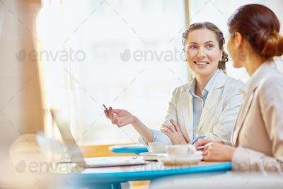 Women preparing project