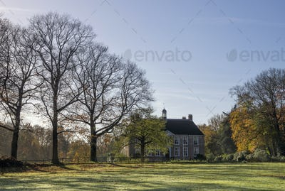 Autumn view on a manor house