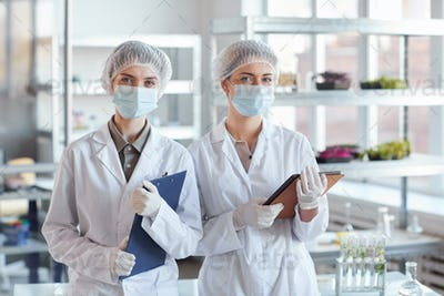 Portrait of Two Female Medics in Laboratory