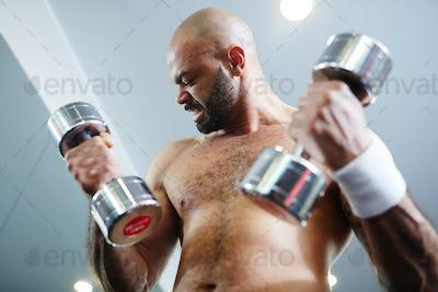 Exercising hard