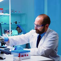 Microbiologist researchers working for vaccine development