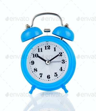 alarm clock watch isolated on white
