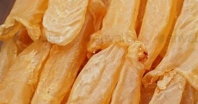 Dried fish maw close up