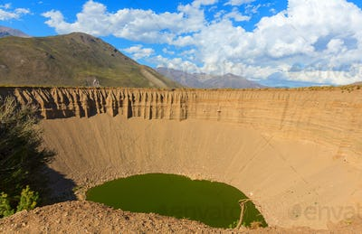 Crater lake in Argentina