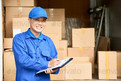 Home moving company manager