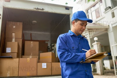 Moving house company courier s