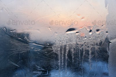icy glass