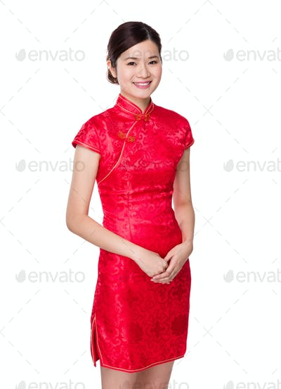 Chinese woman for lunar new year