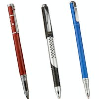colorful shining pens isolated on white