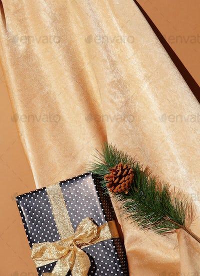 Golden textile, Gift box,