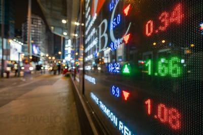 Hong Kong display stock market exchange and charts information via led computer monitor in mong kok