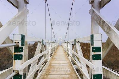 The bridge at Point Bonita Lighthouse