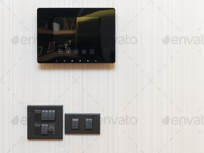 video door phone with electrical switch