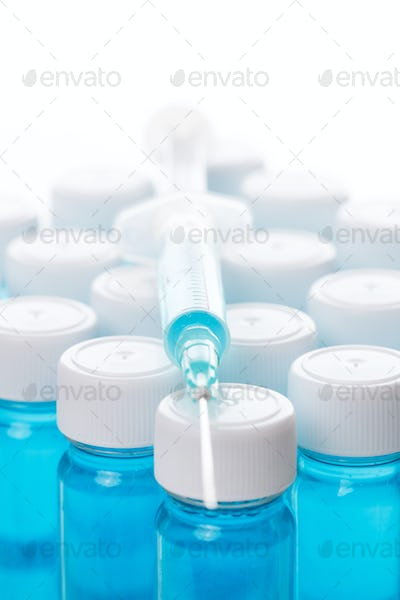 Vial with vaccine