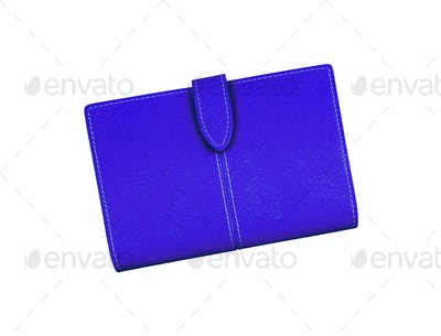 Blue Wallet isolated on white