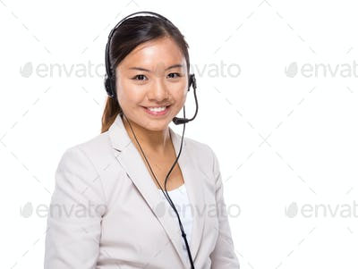 Asian customer service assistant