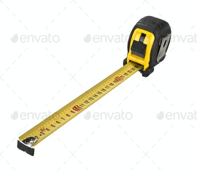 Professional tape measure isolated on white background