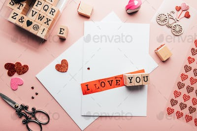 Process of making Valentine's Card