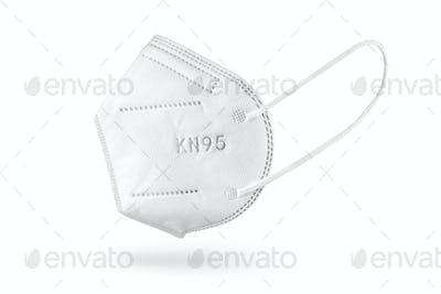 KN95 FFP2 Face mask isolated on white background