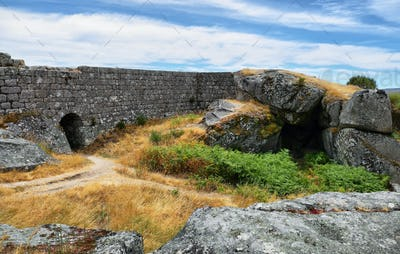 Castro Laboreiro castle ruins in Portugal