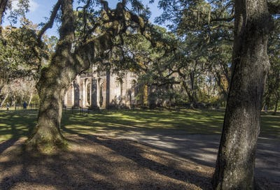 The beautiful ruins of old Sheldon Church in rural Beaufort county, South Carolina.