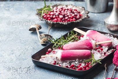 pink cranberry popsicle