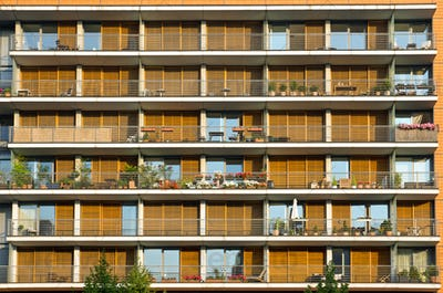 Balconies of a modern building