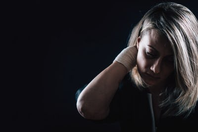 Depression - Dark Portrait of a Depressed Woman