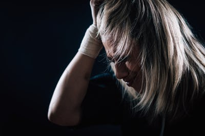 Female Mental Health Patient with Depressive Disorder