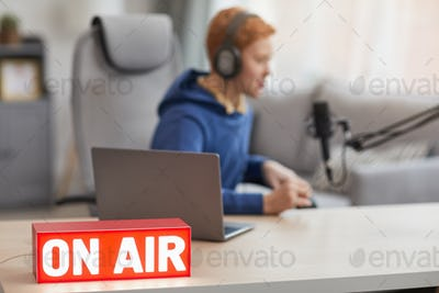 On Air Sign in Home Studio