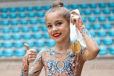 Winner of the rhythmic gymnastics competition