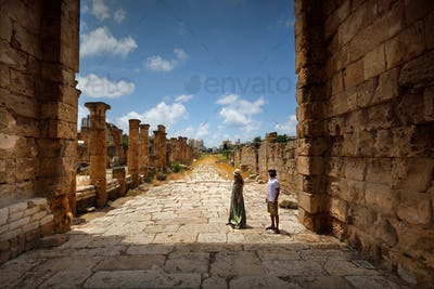 Happy Couple in the Ruins of Tyre