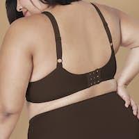 Plus size fashion brown lingerie apparel mockup