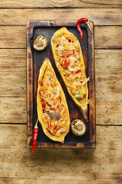 Sweet potato baked with vegetables