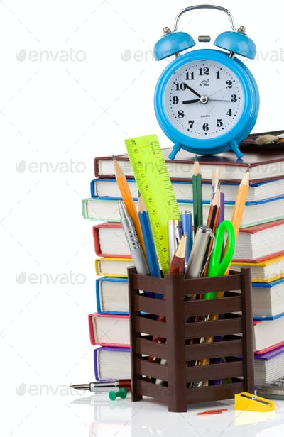 back to school concept isolated on white