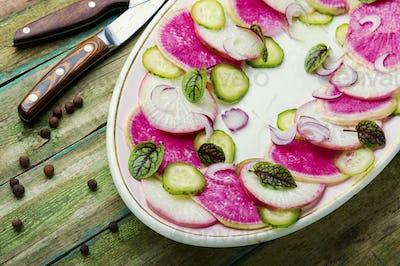 Daikon and radish salad