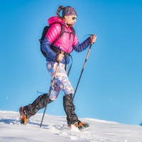 Snow hike with light crampons