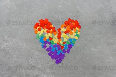Rainbow LGBT colored heart