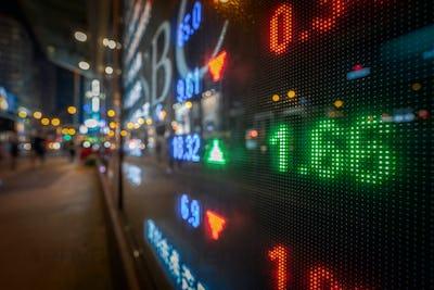 Hong Kong display stock market exchange and charts information via led computer monitor
