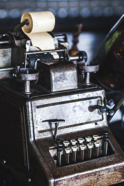 Old vintage antique typewriter