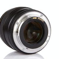 professional photo lens isolated on white