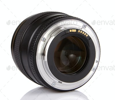 professional photo lens isolated on white