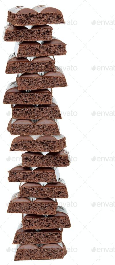 Aerated black chocolate