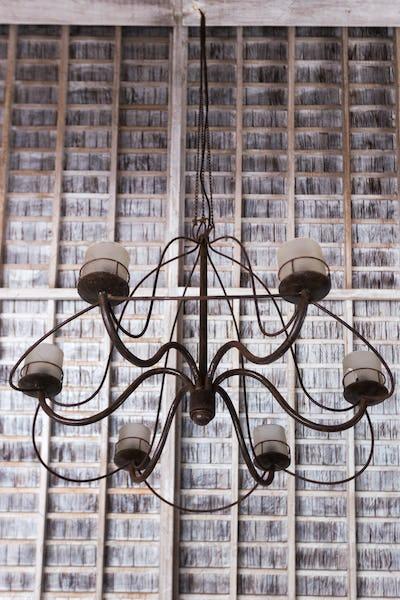 Old vintage metal lamp