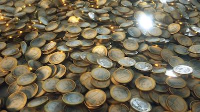 Euro Coins Piled