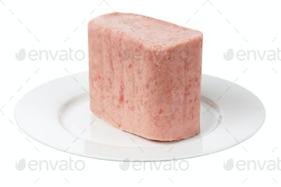 Luncheon Meat on Plate